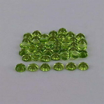 5x5x2.6 mm Round Eye Clean Green Peridot, Sold By each | RG021
