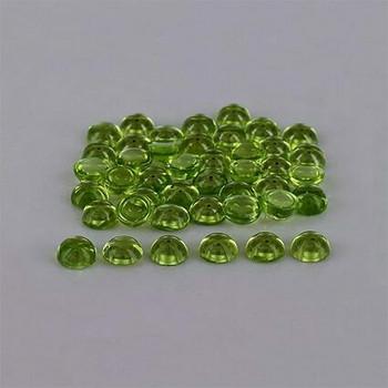 5x5x2.6 mm Round Eye Clean Green Peridot, Sold By each | RG021