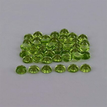 5x5x3 mm Round Eye Clean Green Peridot, Sold By each | RG019