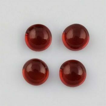 6x6x3.4 mm Round Eye Clean Raspberry Red Garnet, Sold By each | RG005