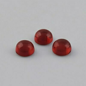 7x7x4.4 mm Round Eye Clean Red Garnet, Sold By each | RG011