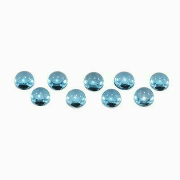 5x5x3 Round Eye Clean Swiss Blue Topaz, Sold By each | RG007