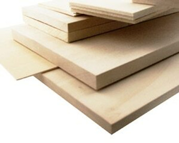 """Basswood sheet, 1/16 x 2 x 48"""", Sold By Each 