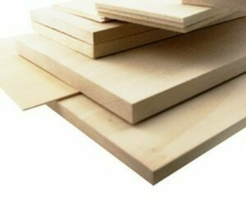 """Basswood sheet, 1/16 x 4 x 48"""", Sold By Each 