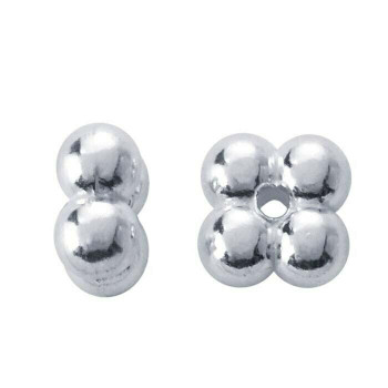 Sterling Silver 2.8 x 1.5mm Quad Bead | Sold By 10Pcs | 410667/10EA