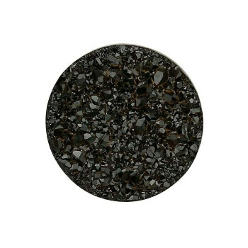 Black Druzy Quartz 8mm Round Cabochon, A-Grade Sold By each | 78229