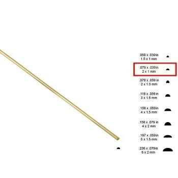 14K Yellow Gold 2 x 1mm Half-Round Sizing Stock, Dead Soft | Sold by cm |Bulk Prc Avlb| 600321
