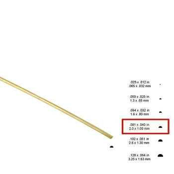 14K Yellow Gold Half-Round Wire, 12-Ga., Dead Soft | Sold by cm |Bulk Prc Avlb| 600612