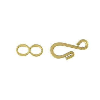 Brass Flattened Hook & Eye Clasp Set   680309