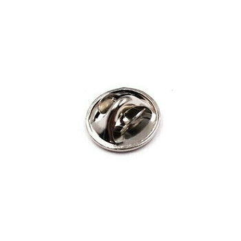 Base Metal Nickel-Plated Tie Tac Clutch | Sold by Each | 661228E