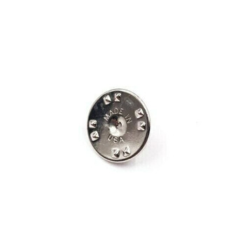 Base Metal Nickel-Plated Tie Tac Clutch | with 4mm-pad Pin | Sold by Each | 661228E