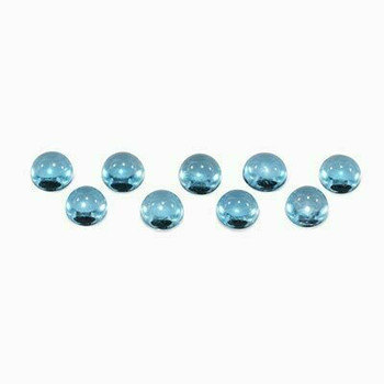 3 x3x1.8mm Round Eye Clean Swiss Blue Topaz, Sold By each | RG007