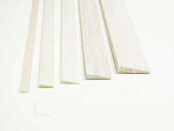 "Balsa wood, Trailing edge, 1/8 x 1/2 x 48"", Sold By Each 
