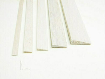 "Balsa wood, Trailing edge, 5/16 x 1 1/4 x 48"", Sold By Each 