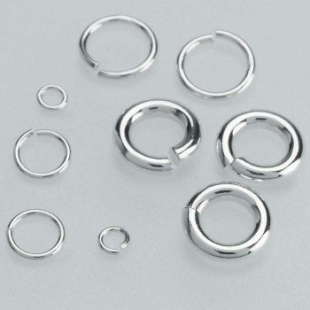 Sterling Silver 18ga Round Jump Ring | 6mm OD | 4mm ID | Sold by Each | 630200
