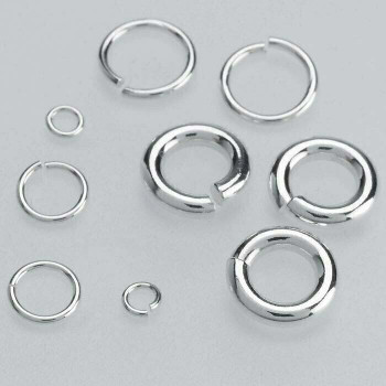 Sterling Silver 18ga Round Jump Ring | 7mm OD | 6mm ID | Sold by Each | 696093