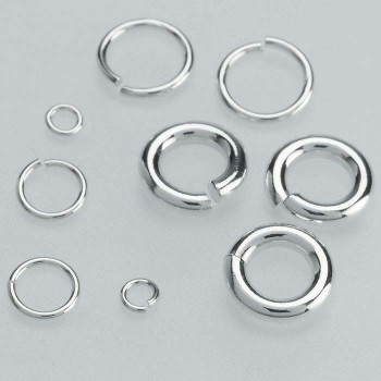 Sterling Silver 18ga Round Jump Ring | 10mm OD | 8mm ID | Sold by Each | 689316
