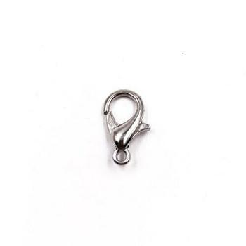 Base Metal Nickel Finish Teardrop Lobster Clasp 6x12mm | Sold by Pc | XZ190