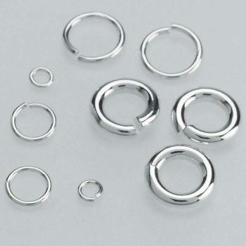 Sterling Silver 24ga Round Jump Ring   4mm OD   3mm ID   Bulk Prc Avlb   Sold by Each   689309