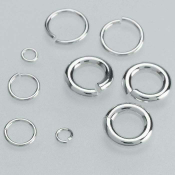 Sterling Silver 24ga Round Jump Ring | 4mm OD | 3mm ID | Bulk Prc Avlb | Sold by Each | 689309