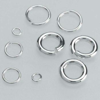Sterling Silver 22ga Round Jump Ring | 6.2mm OD | 5mm ID | Bulk Prc Avlb | Sold by Each | 695067 EA