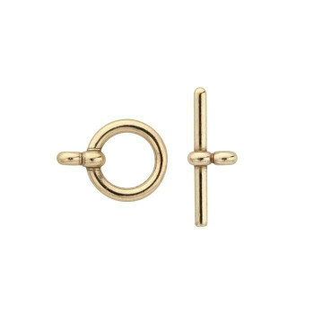 Bronze Flat-End Toggle Clasp Set | Sold by Each | 925910