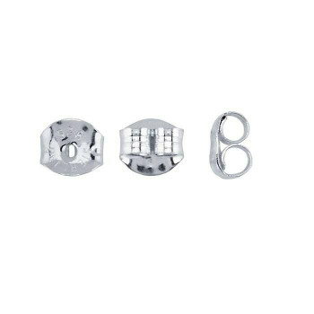 Sterling Silver 5mm Friction Ear Nut | Sold By 2pc | 630021 |Bulk Prc Avlb