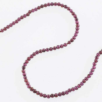 "Garnet 2mm Round Bead Strand 8"" |Sold by Bag| 67419"