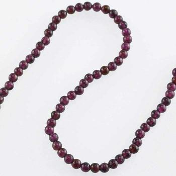 "Garnet 4mm Round Bead 8"" Strand |Sold by Bag| 67421"