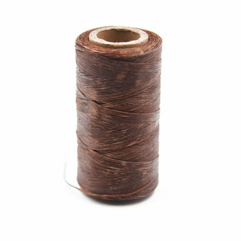 Nylon Cord Coated in Wax 1 mm | Brown | Sold by Ft | NW1004