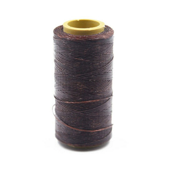 Nylon Cord Coated in Wax 1 mm | Dark Brown | Sold by Ft | NW1005