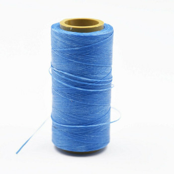 Nylon Cord Coated in Wax 1 mm | Sky Blue | Sold by Ft | NW1009