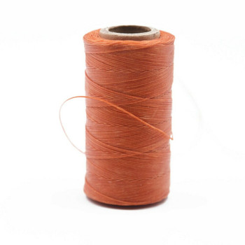 Nylon Cord Coated in Wax 1 mm | Orange | Sold by Ft | NW1013