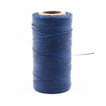 Nylon Cord Coated in Wax 1 mm | Navy Blue | Sold by 220m Spool | NWS07