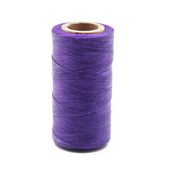 Nylon Cord Coated in Wax 1 mm | Violet | Sold by 220m Spool | NWS06