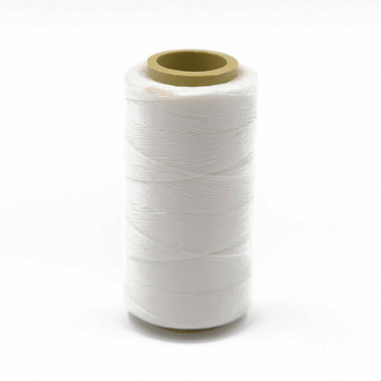 Nylon Cord Coated in Wax 1 mm | White | Sold by 220m Spool | NWS01