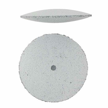 Silicone Knife-Edge Polishing Wheel | White/Coarse | POL-311.10 | Bulk Prcs Avlb