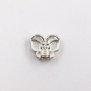 Sterling Silver Butterfly Beads | 7.5mm Stringing Length | 9mm Width | 1.8mm Hole | ZT0802