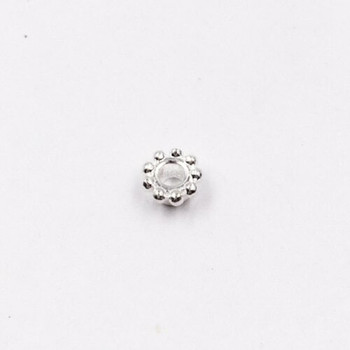 Sterling Silver Crown Bead | 2.5mm Stringing Length | 4mm Width | 1.8mm Hole | ZT0804