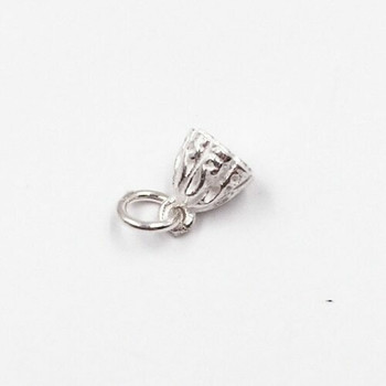 Sterling Silver Decorative Charm | 10.5mm Hanging Length | 5.5mm Width | 3mm Hole | ZT0805