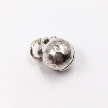 Large Sterling Silver Bell Charm   20mm Hanging Length   15mm Length   10.5mm Width   5mm Hole   ZT0807