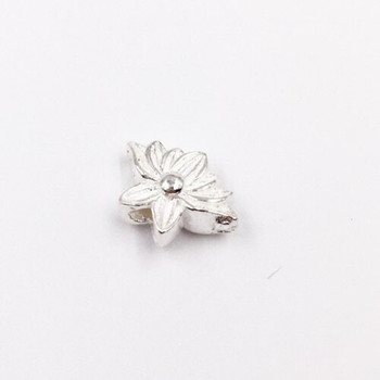 Sterling Silver Blooming Flower Bead | 8mm Stringing Length | 12mm Width | 1.8mm Hole | ZT0808