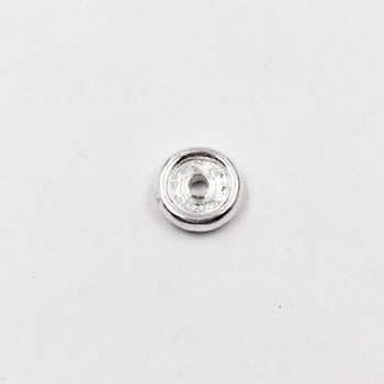 Sterling Silver Saucer Bead | 2.5mm Stringing Length | 8.5mm Width | 1.8mm Hole | ZT0809