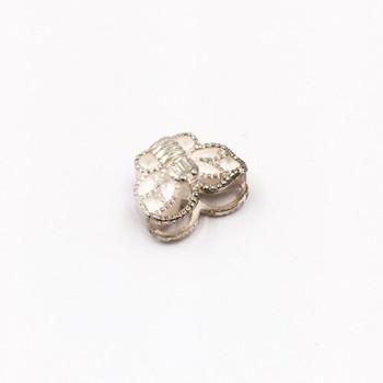 Sterling Silver Butterfly Bead | 10mm Stringing Length | 12.5mm Width | ZT0810