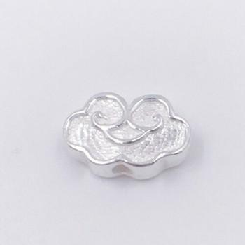 Sterling Silver Cloud Bead | 13mm W | 8mm L | 1.4mm Hole | ZT0812
