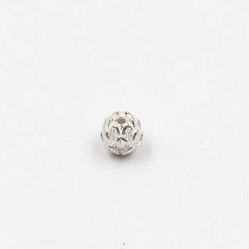 Sterling Silver Small Pinecone Bead | 7mm L | 7.5mm W | 1.2mm Hole | ZT0815
