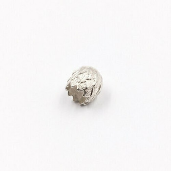 Sterling Silver Flower End Cap | 12mm Length | 11mm Width | ZT0816