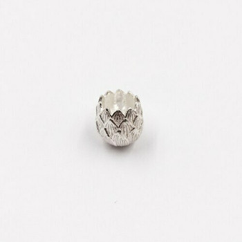 Sterling Silver Flower End Cap   12mm Length   11mm Width   ZT0816