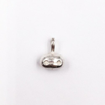 Sterling Silver Robot Head Charm   8.6mm Hanging Length   7mm Width   2mm Hole   ZT0817