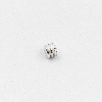Sterling Silver Coil Bead | 3mm Stringing Length | 4mm Width | 1.8mm Hole | ZT0819